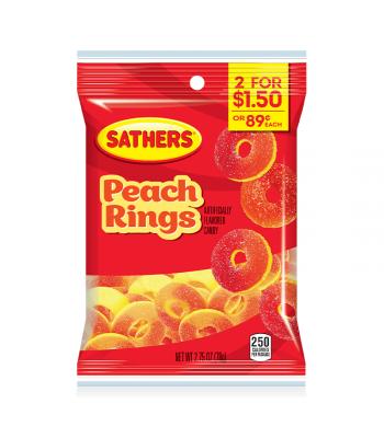 Sathers Gummallos Peach Rings - 2.75oz (78g)