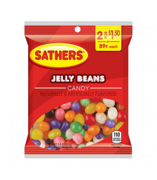Sathers Jelly Beans Candy 3.4oz (96g) Jelly Beans Sathers