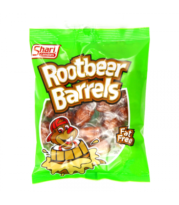 Shari Candies Rootbeer Barrels - 6oz (170g) Sweets and Candy