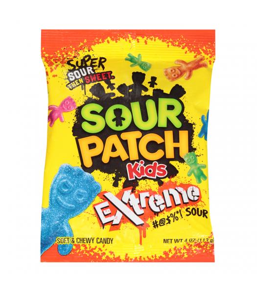 Sour Patch Kids Extreme Peg Bag 4oz (113g) Soft Candy Sour Patch