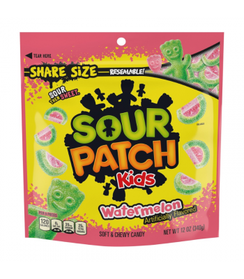 Sour Patch Kids Watermelon Share Size - 12oz (340g) Sweets and Candy Sour Patch