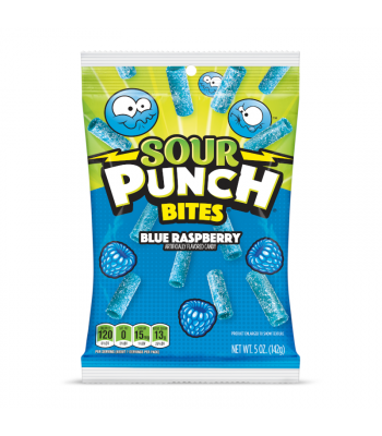 Sour Punch Blue Raspberry Bites - 5oz (142g) Sweets and Candy Sour Punch