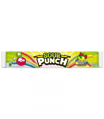 Sour Punch Rainbow Candy Straws - 2oz (57g) Soft Candy Sour Punch
