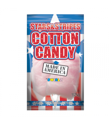 Swirlz Stars & Stripes Cotton Candy - 3.1oz (88g) Sweets and Candy