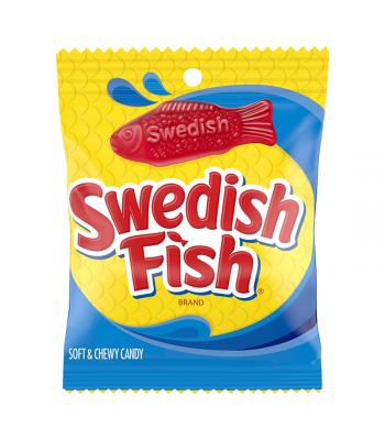 Swedish Fish Red Peg Bag 5oz (142g) Soft Candy Swedish Fish