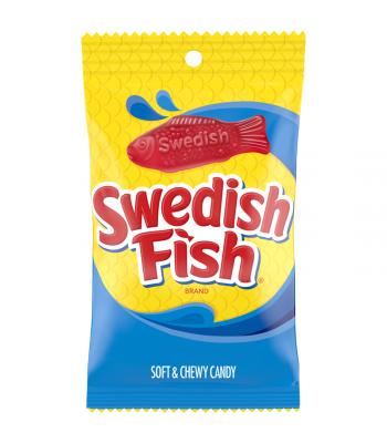 Swedish Fish Red Peg Bag - 8oz (226g) Soft Candy Swedish Fish
