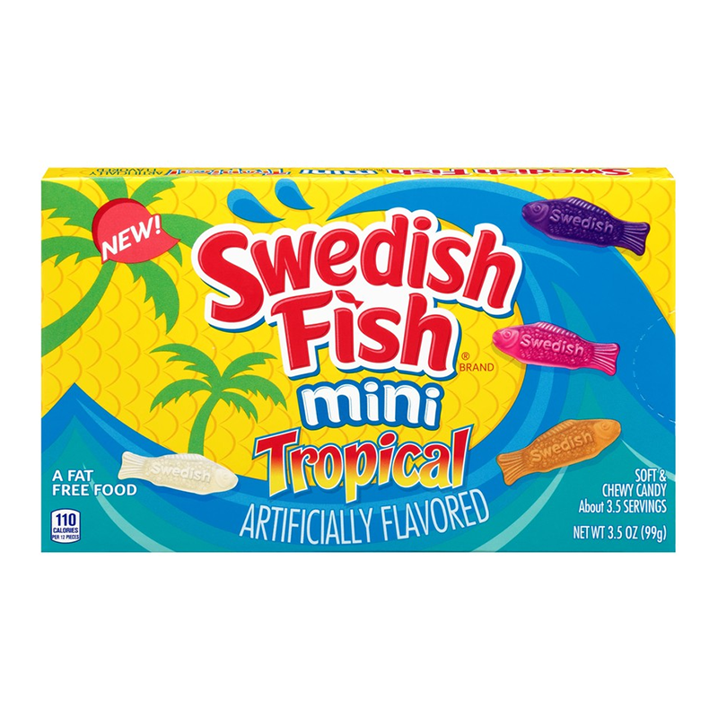 Swedish fish tropical theatre box 99g american for Who makes swedish fish