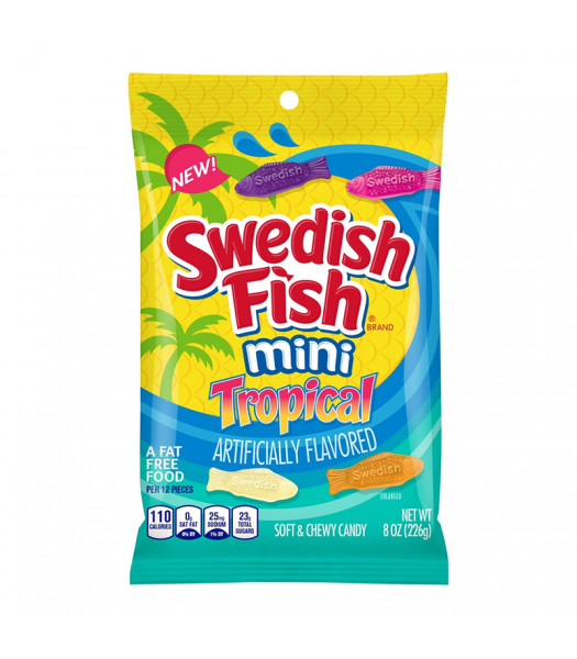 Swedish Fish Tropical Peg Bag - 8oz (226g) Sweets and Candy Swedish Fish