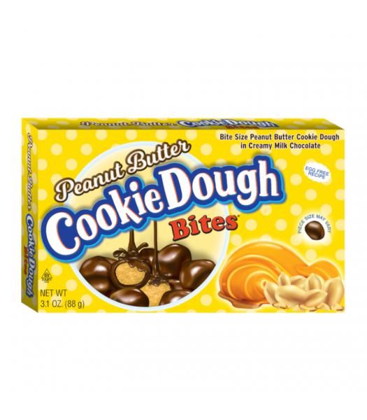 Cookie Dough Bites Peanut Butter 3.1oz (88g) Theatre Box Chocolate, Bars & Treats Cookie Dough Bites
