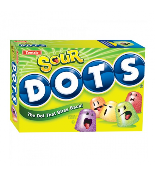 Tootsie Sour Dots Theatre Box 6oz (170g) Soft Candy Tootsie
