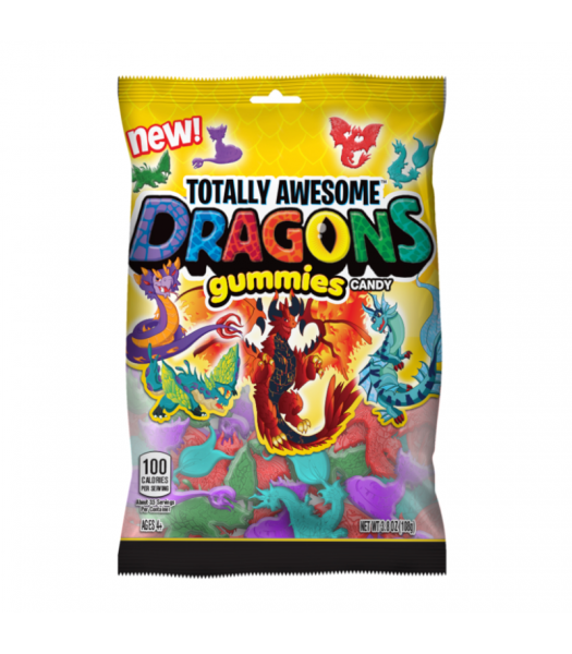 Topps Totally Awesome Dragon Gummies - 3.8oz (108g) Sweets and Candy
