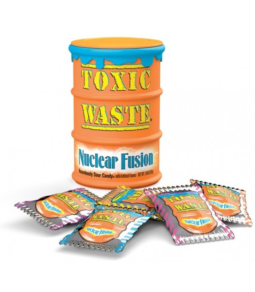 Toxic Waste Nuclear Fusion Sour Candy Drum