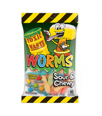 Toxic Waste Sour Gummy Worms 5oz (142g) Sweets and Candy Toxic Waste
