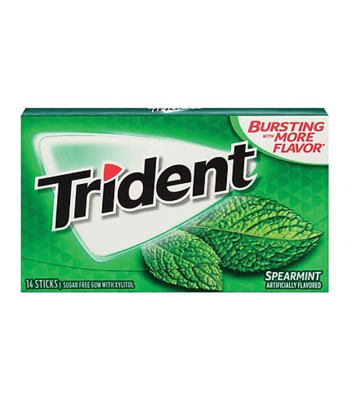 Trident Spearmint Gum 14pc Sweets and Candy Trident