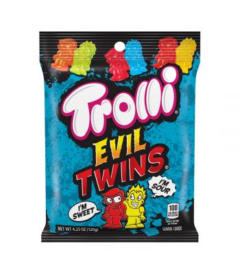 Trolli Evil Twins Peg Bag - 4.25oz (120g) Sweets and Candy