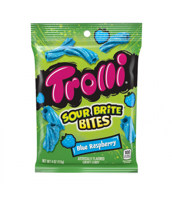 Trolli Sour Brite Bites Blue Raspberry - 4oz (113g) Sweets and Candy Trolli