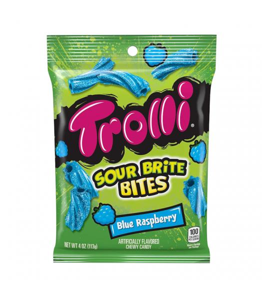 Trolli Sour Brite Bites Blue Raspberry - 4oz (113g) Sweets and Candy Trolli