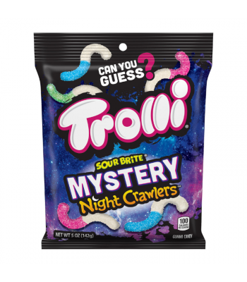 Trolli Sour Brite Mystery Night Crawlers Peg Bag - 5oz (141g) Sweets and Candy Trolli