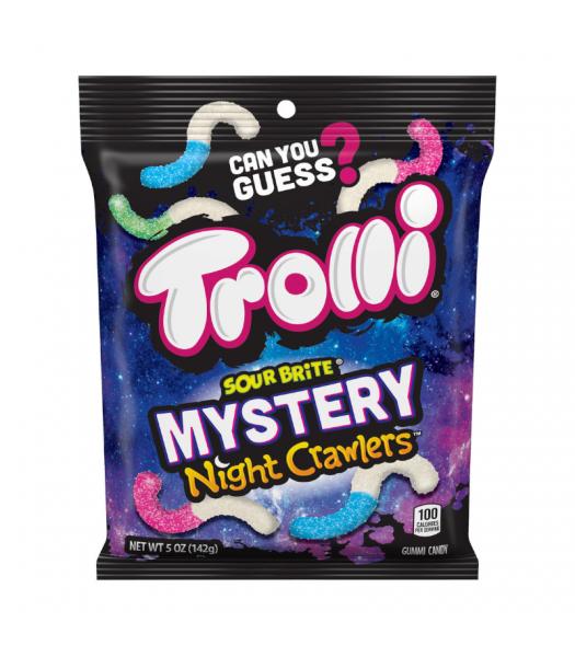 Trolli Sour Brite Mystery Night Crawlers Peg Bag - 5oz (141g) Sweets and Candy Trolli