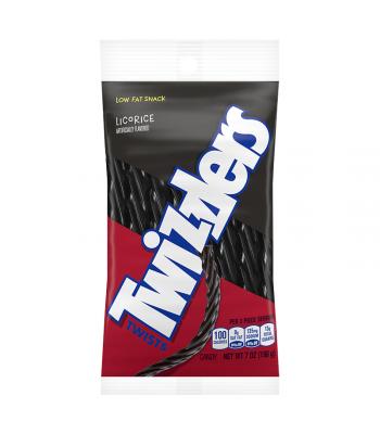 Twizzlers Black Licorice Twists 7oz (198g) Soft Candy Twizzlers
