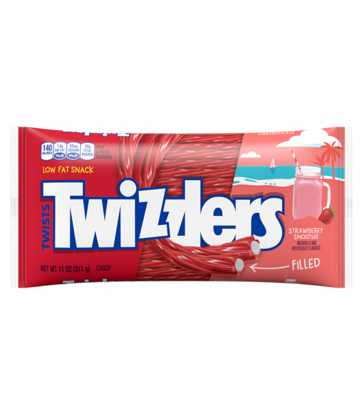 Twizzlers Limited Edition Strawberry Smoothie Filled Twists - 11oz (311g) Sweets and Candy Twizzlers