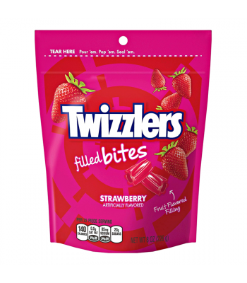 Twizzlers - Strawberry Filled Bites - 8oz (226g) Sweets and Candy Twizzlers