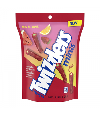 Twizzlers Sour Mini Twists 8oz (227g) Sweets and Candy Twizzlers