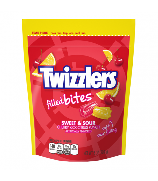 Twizzlers - Sweet & Sour Filled Bites - 8oz (226g) Sweets and Candy Twizzlers