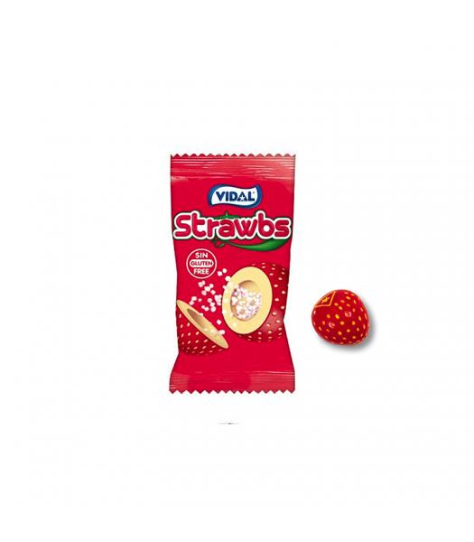 Vidal Strawbs Strawberry Bubble Gum - SINGLE