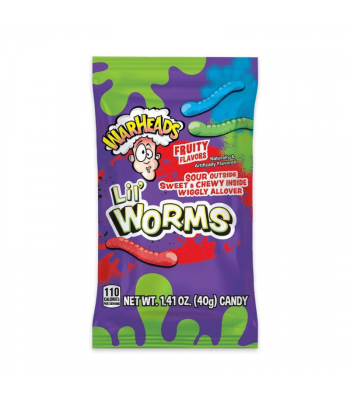Warheads Lil' Worms - 1.41oz (40g) Sweets and Candy Warheads