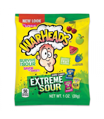Warheads Extreme Sour Hard Candy 1oz (28g) Hard Candy Warheads