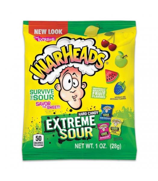 Warheads - Extreme Sour Hard Candy - 1oz (28g) Hard Candy Warheads