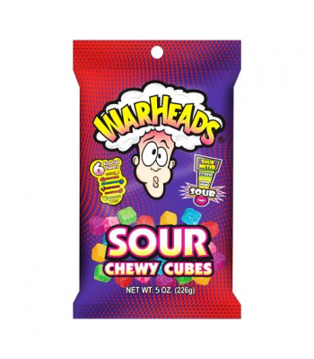 Warheads - Sour Chewy Cubes Peg Bag - 5oz (141g)
