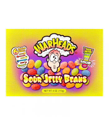 Warheads - Sour Jelly Beans Theatre Box 4oz (113g) Jelly Beans Warheads