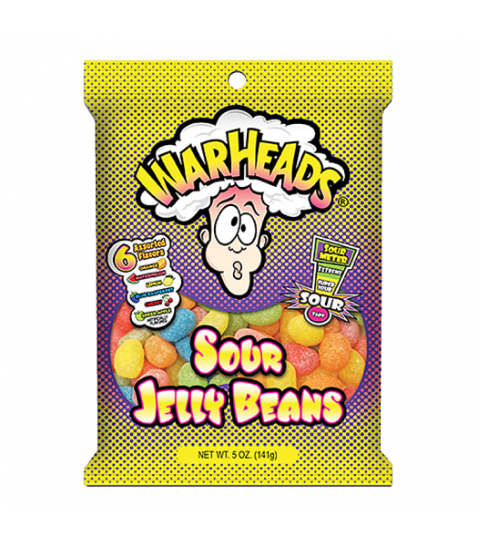 Warheads - Sour Jelly Beans 5oz (141g) Jelly Beans Warheads