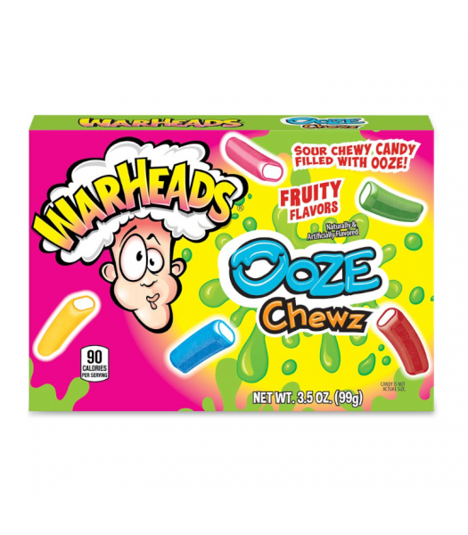Warheads Sour Ooze Chewz Theater Box - 3.5oz (99g) Sweets and Candy Warheads