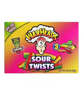 Warheads Sour Twists Theatre Box 3.5oz (99g) Soft Candy Warheads