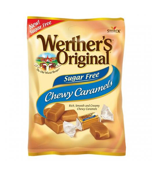 Werther's Original Chewy Caramels SUGAR FREE 1.46oz (41.4g) Hard Candy Werther's Original
