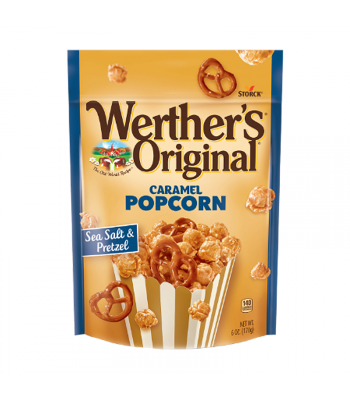 Werther's Sea Salt & Pretzel Caramel Popcorn - 6oz (170g) Snacks and Chips Werther's Original