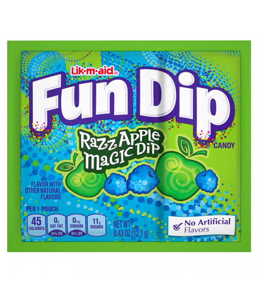 Fun Dip Razz Apple Magic Dip - 0.43oz (12.1g) Sweets and Candy Nestle