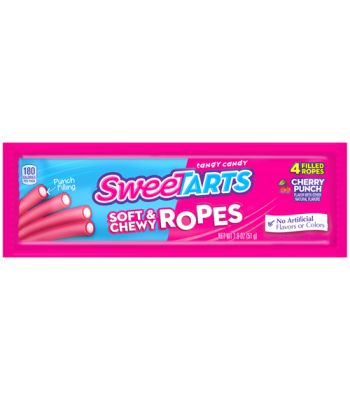Wonka SweeTarts Soft & Chewy Ropes (Formally Kazoozles) - Cherry Punch 1.8oz (51g) Soft Candy Wonka