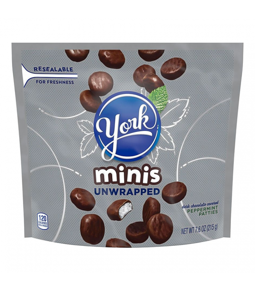 York Peppermint Patties Unwrapped Minis - 7.6oz (215g) Sweets and Candy York