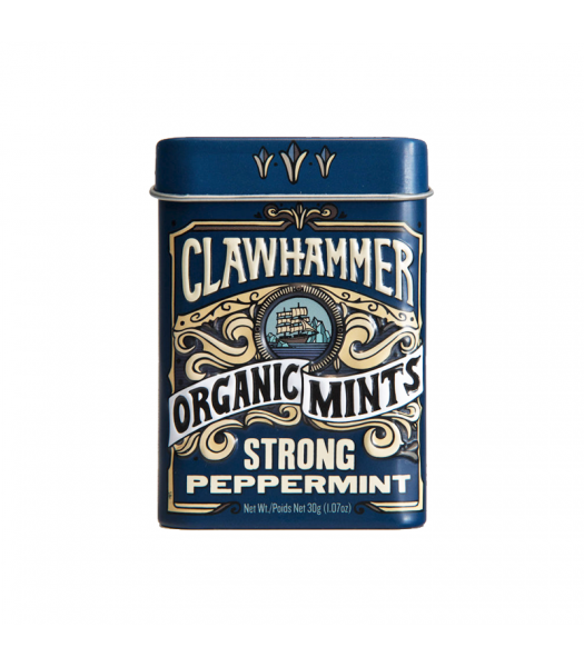Clawhammer Organic Mints Strong Peppermint - 1.07oz (30g) Canadian Products