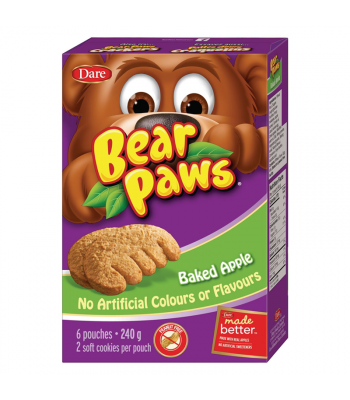 Dare - Bear Paws - Baked Apple - 6-Pack (240g) [Canadian]
