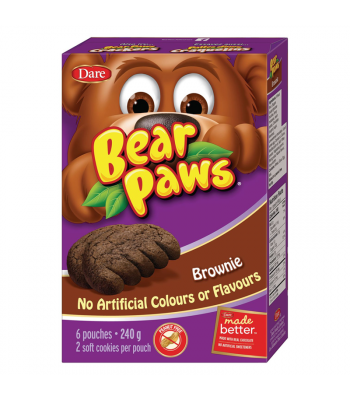 Dare - Bear Paws - Brownie - 6-Pack (240g) [Canadian]