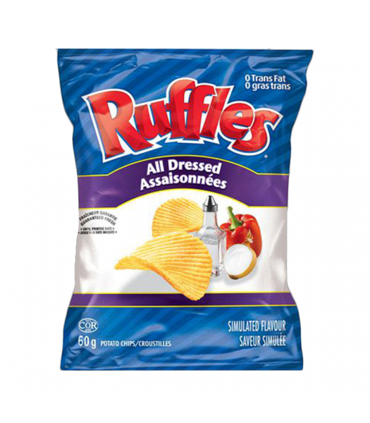 Ruffles All Dressed Potato Chips (60g) Canadian Products