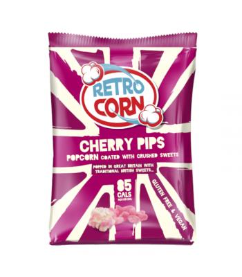 Retrocorn Cherry Pips Popcorn - 35g Snacks and Chips
