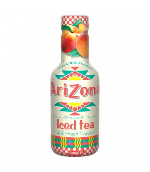 AriZona Sun Brewed Style Iced Tea with Peach Flavour - 500ml Soda and Drinks Arizona