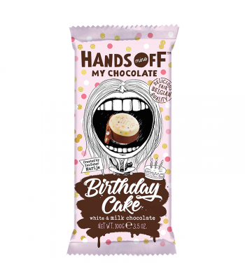 Hands Off My Chocolate - Birthday Cake White & Milk Chocolate - 3.5oz (100g) Sweets and Candy Hands Off My Chocolate