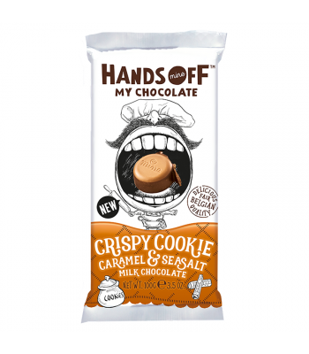 Hands Off My Chocolate - Crispy Cookie Caramel & Sea Salt Milk Chocolate - 3.5oz (100g) Sweets and Candy Hands Off My Chocolate